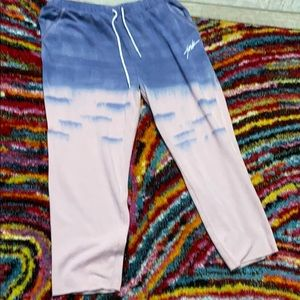 PINK VictorIa Secret Cut Off Sweatpant Size L NWT